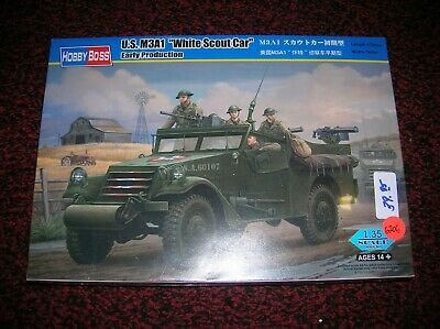 $39 • Buy HOBBY BOSS # 82451    US M3A1 WHITE SCOUT CAR EARLY PROD.    1/35 Kit, LOT #6206