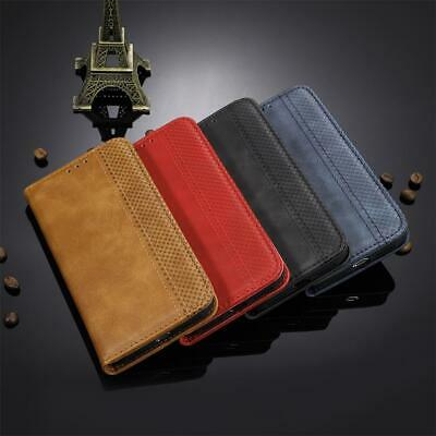 AU17.48 • Buy Retro Magnetic PU Leather Wallet Case For Oppo A9 A52 A72 Reno Realme Find X2