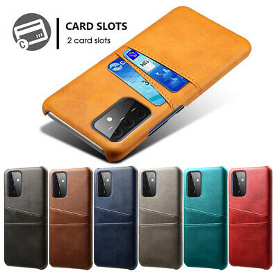 AU14.68 • Buy For Samsung A32 A52 A72 S20 S21 A31 A51 Leather Credit Card Holder Pocket Case