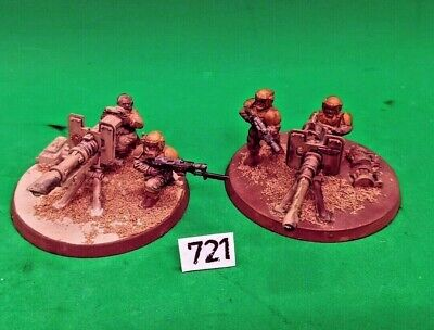 £0.99 • Buy 2 X Imperial Guard Heavy Weapons Team Astra Militarum Guardsmen Cadian Painted