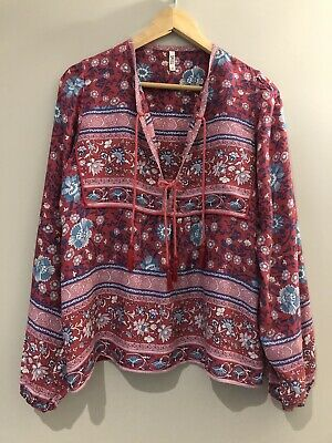 AU255 • Buy Spell Designs Vintage Folktown Blouse Wine M