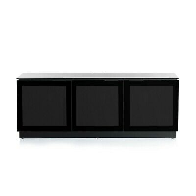 """£0.99 • Buy Black TV Cabinet With Glass IR Friendly Doors – Suitable For LCD TV's Up To 65"""""""