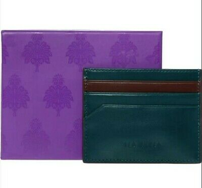 £30.99 • Buy Ted Baker Men's InvesTed Leather Card Holder Green/Brown New