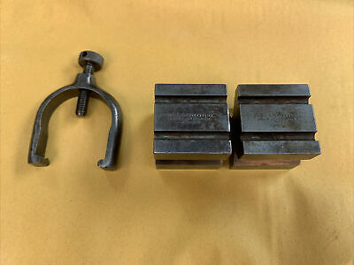 £32.99 • Buy Vintage L S Starrett USA No 271 Matched Pair Of V Blocks With Clamp