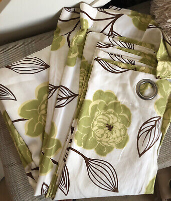 £5 • Buy Fully Lined Tab Top Curtains. 100% Cotton. W220cm X L185cm