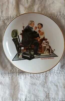 """$ CDN30 • Buy Lot Of 3Norman Rockwell Museum 6-1/2"""" Collector Plates, 1984 &1985 Excellent"""