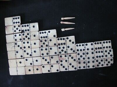 £15 • Buy Old Domino Set In Box And Cribbage Board
