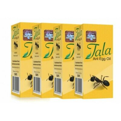 £19.87 • Buy 4 X 20 Ml  Tala Ant Egg Oil Permanent Hair Removal Reducing %100 Natural (20ml )