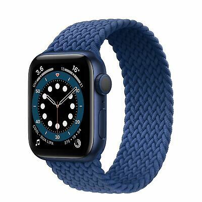AU14.45 • Buy Nylon Braided Solo Loop Watch Strap Band For Apple Watch 6 SE 5 4 32 42mm/44mm