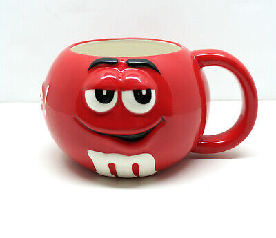 $12.99 • Buy NWT M&M RED MM Official Coffee Mug Cup Collectible Round Licensed Detailed 3D