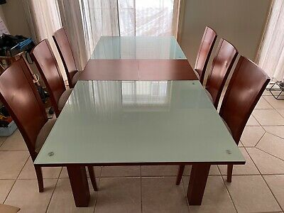 AU350 • Buy Extendable Dining Table  With 6 Chairs Set