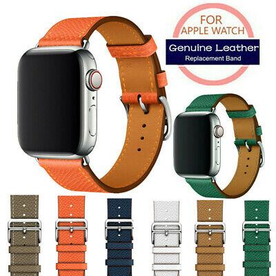$ CDN13.40 • Buy For IWatch Series 6 5 4 3 2 Genuine Leather Band Straps Watchbands 38/40/42/44mm