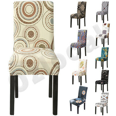 AU5.99 • Buy 1-12PCS Dining Chair Covers Spandex Cover Stretch Washable Wedding Banquet Party