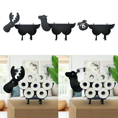 AU24.05 • Buy Black Toilet Paper Roll Holder Toilet Tissue Stand Wall Mount Ornament