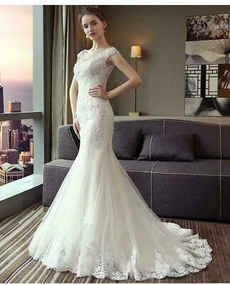 $ CDN12.09 • Buy Sexy Mermaid Wedding Dress Lace Embroidery Mermaid Princess Luxury