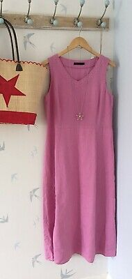£14.99 • Buy Lovely Boden Pink 100% Linen Maxi Dress - Size 12 R
