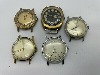 $ CDN1.20 • Buy VINTAGE Mechanical MENS WATCH LOT OF 5 TIMEX Mechanical & Automatic - AS IS