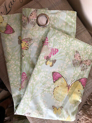 "£5 • Buy Butterfly Fully Lined, Thermal Tab Top Curtains By Dunhelm. W66"" X L72"""