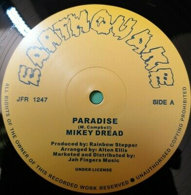 £18.95 • Buy Paradise.and Behold.mikey Dread.12