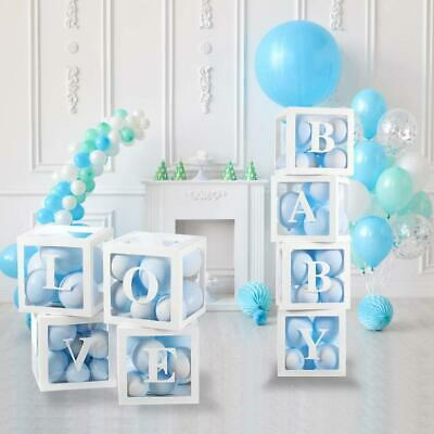 AU26.90 • Buy Balloon Box With LOVE BABY ONE Boxes Cube For Baby Shower Birthday Bridal Shower