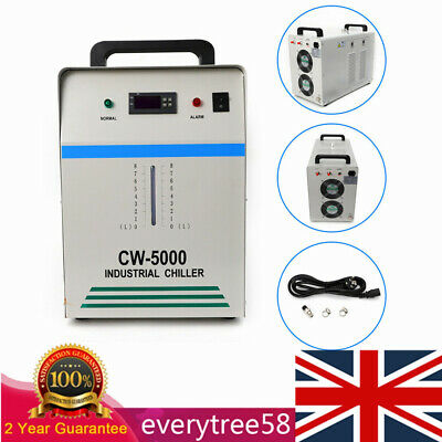£289 • Buy CW-5000 Industrial Water Chiller Glass Laser Tube 80W CO2 Laser Equipment 800W
