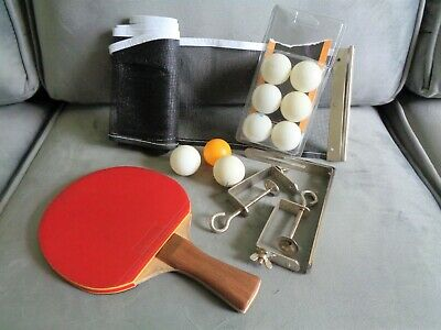 AU9.07 • Buy Set Of Table Tennis Equipment - 1 Paddle, A Net With Fixtures & 9 Balls