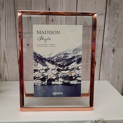 £8 • Buy Kenro Rose Gold 4x6 Floating Picture Frame, Boxed