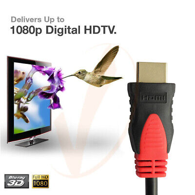 $ CDN7.48 • Buy Ultra High Speed HDMI 1.4 Cable 1080p Ethernet, 3ft 6ft 10ft 15ft 25ft 30FT 50ft