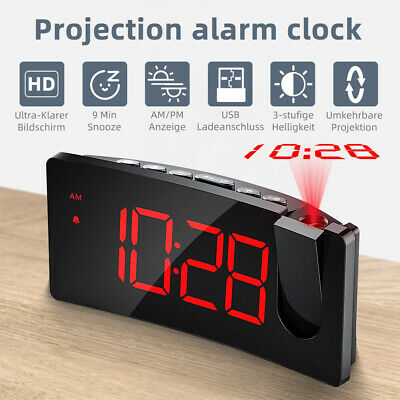 AU34.09 • Buy Mpow LED Digital Projection Alarm Clock Time Projector With Snooze USB Charger