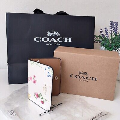 £49 • Buy Coach Floral Bifold Card Holder New
