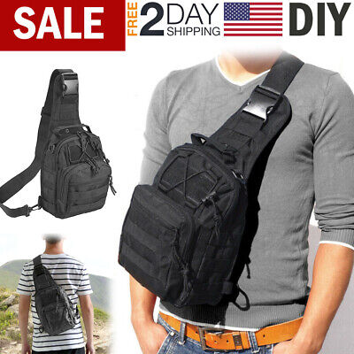 $14.99 • Buy Tactical Sling Bag Pack Small Molle Assault Military Backpack Army Shoulder Bag