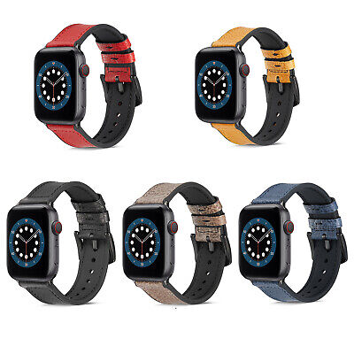 AU21.99 • Buy Genuine Leather Band Strap For Apple Watch IWatch SE 6 5 4 3 38/42mm 40/44mm
