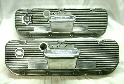 $275 • Buy Vintage Bbc M/t Valve Covers W/offenhauer Breathers. 396-427-454 Chevy Mt