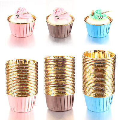 £4.85 • Buy 50X Cake Paper Cups Cupcake Wrappers Muffin Cases Baking Cup Cake Liner Tool UK