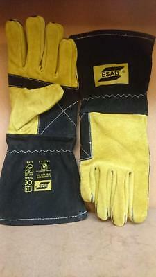 £19.99 • Buy High Quality Esab Curved MIG Welders Gauntlets Welding Gloves X 1 Pair Size 9