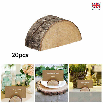 £13.30 • Buy 20Pcs Wooden Table Card Holder Stand Number Place Name Menu Party Wedding Decor
