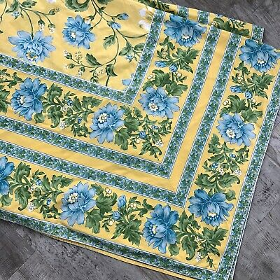 """£48.14 • Buy April Cornell Yellow & Blue French Country Cottage Floral Tablecloth *104x70"""""""