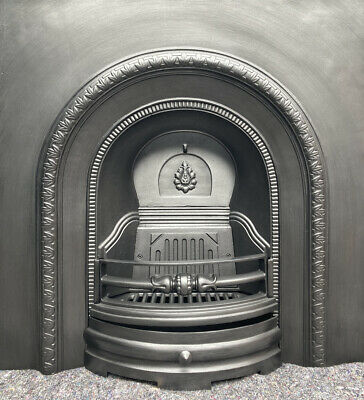 £320 • Buy Cast Iron Fireplace / Fire Surround / Insert / Victorian Style / Solid Fuel/ Gas