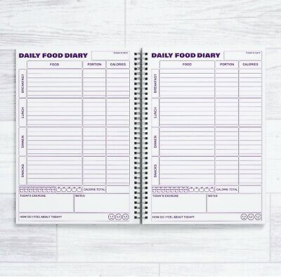 £6.99 • Buy A5 Calorie Counting 84 Daily Food Diaries In A Book - 12 Week Calorie Count Book