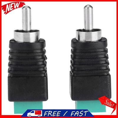 £3.42 • Buy 2pcs Speaker Wire Cable To Audio Male RCA Connectors Adapters Jack Plug R1BO