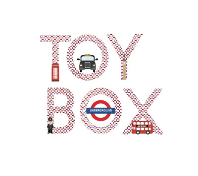 £5 • Buy TOY BOX Stickers London Theme Red Bus Policeman Solider Taxi 3  Vinyl Decal