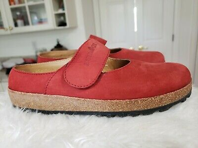 £35.43 • Buy Haflinger Women's Shoes Sz 6 Mary Jane Red Suede Cork Flats Comfort Germany