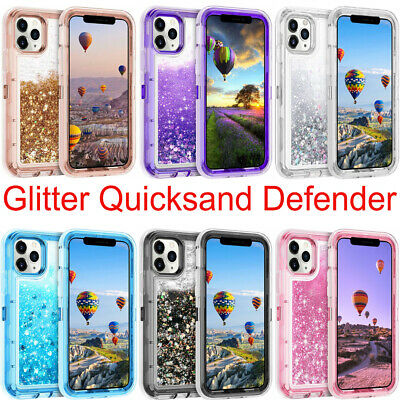 AU16.99 • Buy Defender Liquid Glitter Shockproof Protective Case For IPhone 13 12 11 Pro Max X