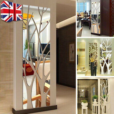 £6.99 • Buy 3D Tree Mirror Wall Sticker Removable DIY Art Decal Home Decor Mural Acrylic UK