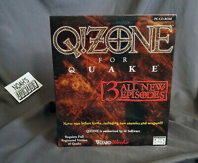$ CDN69.22 • Buy Q!Zone For Quake SEALED PC Big Box Game WizardWorks ID Software Doom Wolf3D RARE