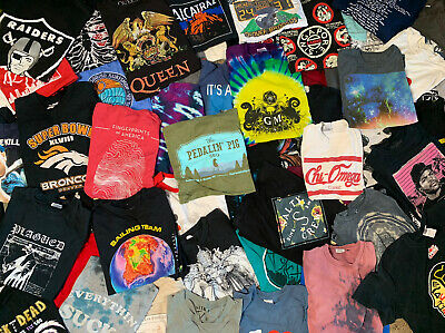 $29.99 • Buy 5 T-shirt Lot Pick A Size VTG Nike Sports Tie Dye Bands Movies Carhartt Graphics
