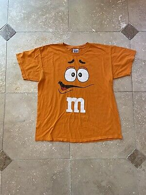 $30 • Buy VTG M&Ms Candy Orange Graphic T Shirt Size Large Made In USA