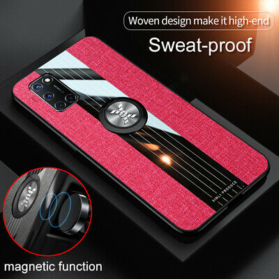 AU15.99 • Buy Cloth Finger Ring Stand Magnet Case For OPPO A72 A9 Reno 2Z Realme C3 Find X2 X3