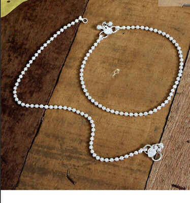 £7.99 • Buy Traditional Bollywood Costume  Silver Anklets Indian Payal
