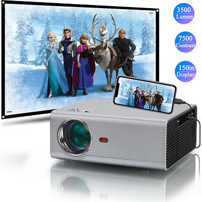 AU26.95 • Buy 6000 Lumens Mini Portable 1080P FULL HD Projector 4K Max Home Outdoor Theater